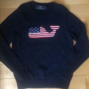 Vineyard Vines Patriotic Whale sweater